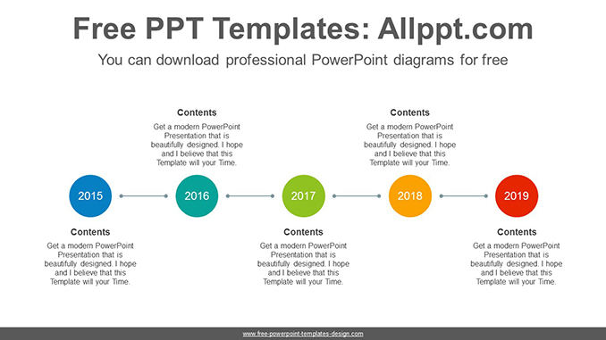 Horizontal circle PowerPoint Diagram Template-post image