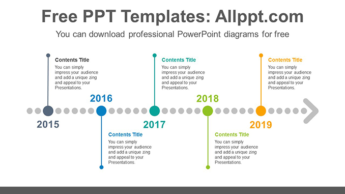 Horizontal dotted arrow PowerPoint Diagram Template-post image