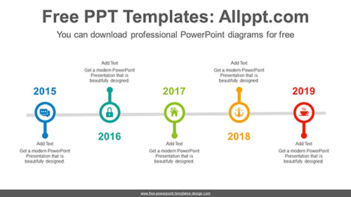 Line circled PowerPoint Diagram Template-list image