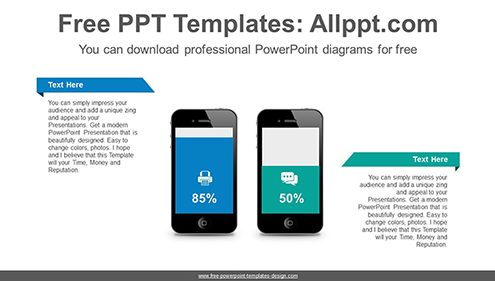 Mobile phones bar chart PowerPoint Diagram Template-list image