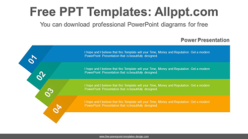 Origami banner PowerPoint Diagram Template-list image