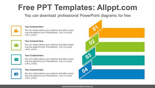 Origami banner numbering PowerPoint Diagram Template-list image