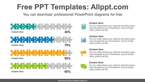 Puzzle chart PowerPoint Diagram Template-list image