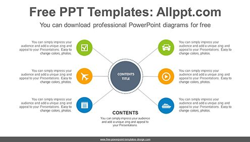 Radial circle PowerPoint Diagram Template-list image
