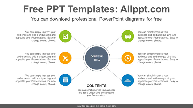 Radial circle PowerPoint Diagram Template-post image