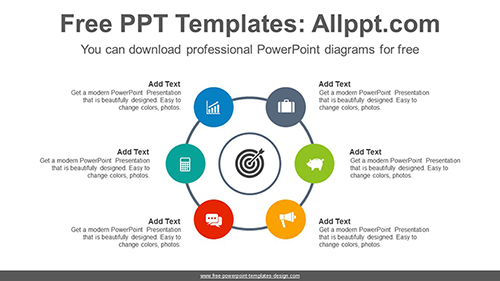 Radial circles PowerPoint Diagram Template-list image