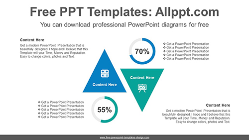 Reverse-facing triangle PowerPoint Diagram Template-list image