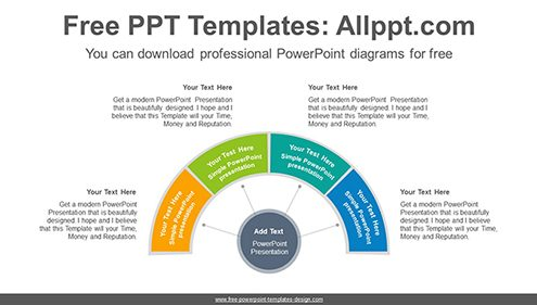 Semi donut ring PowerPoint Diagram Template-list image