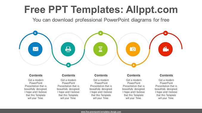 Serpentine flow course PowerPoint Diagram Template-post image