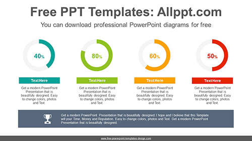 Simple donut charts PowerPoint Diagram Template-list image