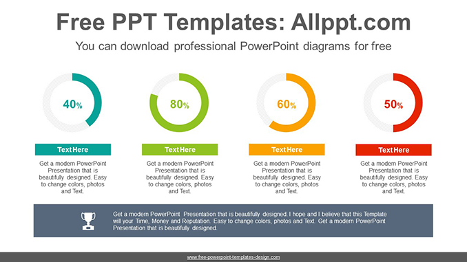Simple donut charts powerpoint diagram template ccuart Gallery