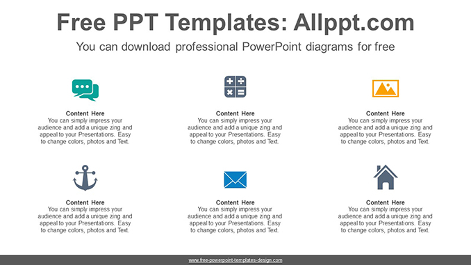 Simple icon list PowerPoint Diagram Template-post image