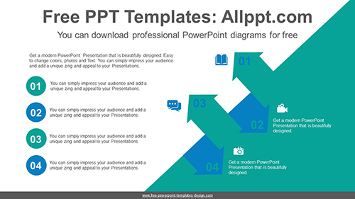 Slope symmetrical arrows PowerPoint Diagram Template-list image