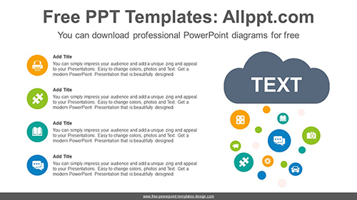 Snowing Clouds PowerPoint Diagram Template-list image