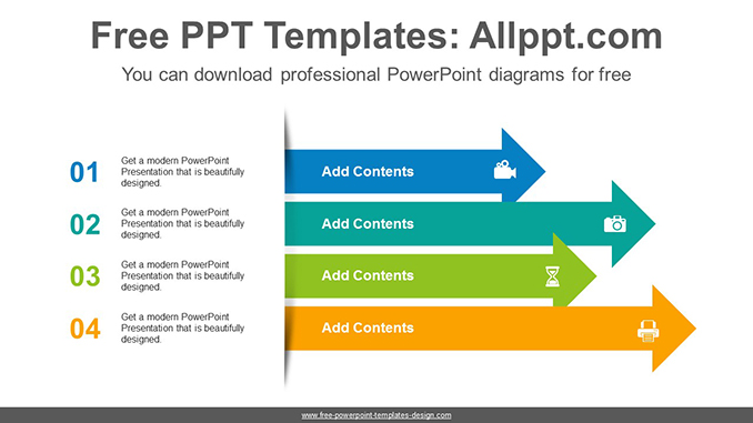 Stacked arrows PowerPoint Diagram Template-post image
