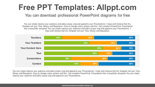 Stacked horizontal bar chart PowerPoint Diagram Template-list image