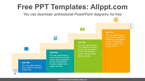 Staircase pencil banner PowerPoint Diagram Template-list image