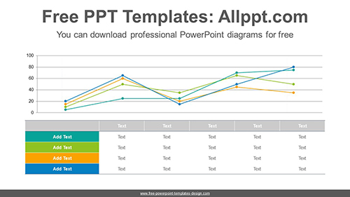 Table line chart PowerPoint Diagram Template-list image