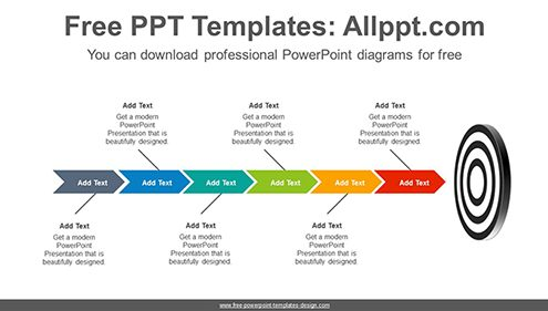 Targeting chevron arrow PowerPoint Diagram Template-list image