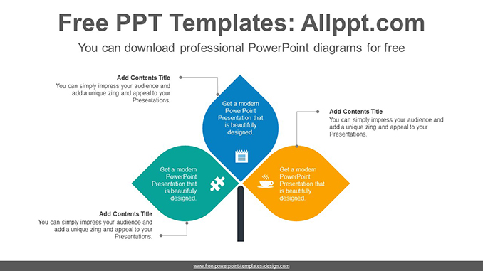 Three leaves PowerPoint Diagram Template-post image
