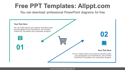 Triangle line arrow PowerPoint Diagram Template-list image