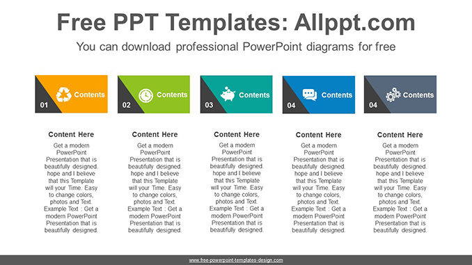 Triangle point text-boxes PowerPoint Diagram Template-post image