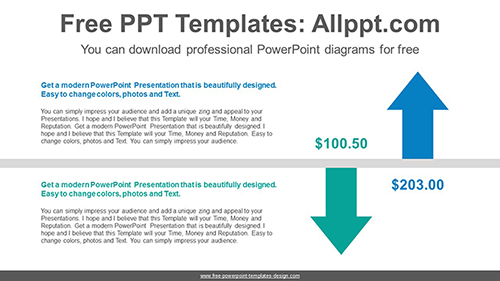 Two reverse-facing arrow PowerPoint Diagram Template-list image
