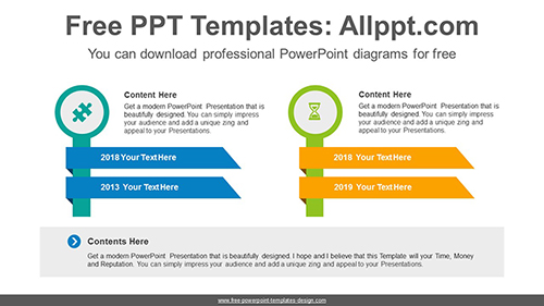 Two signposts PowerPoint Diagram Template-list image
