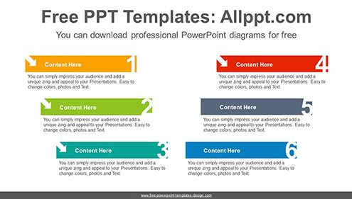 V-numbered banner PowerPoint Diagram Template-list image