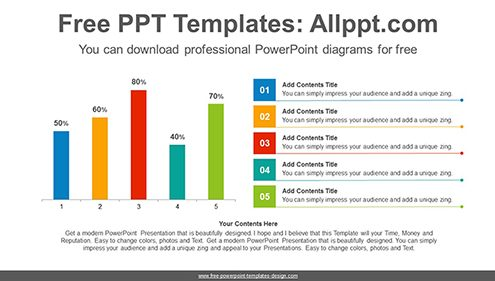 Vertical bar chart PowerPoint Diagram Template-list image