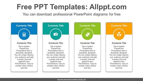 Vertical carded banner PowerPoint Diagram Template-list image