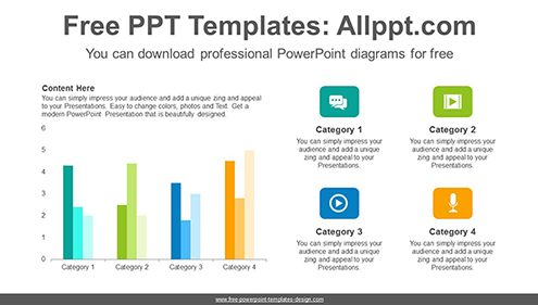 Vertical clustered bar chart PowerPoint Diagram Template-list image