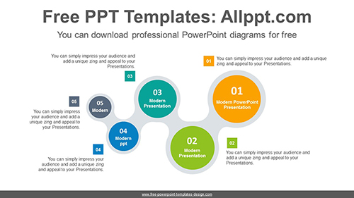 W-shaped chain PowerPoint Diagram Template-list image