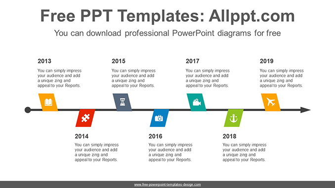 Zigzagged flags PowerPoint Diagram Template-post image
