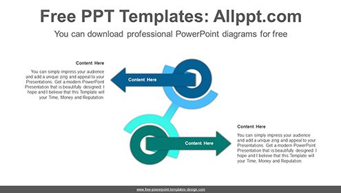 Free powerpoint relationship diagrams arrows across doughnut powerpoint diagram template list image ccuart Gallery