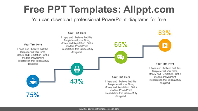 Cascading circle PowerPoint Diagram Template-post image