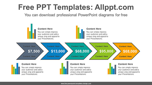 Chevron bar chart PowerPoint Diagram Template-list image