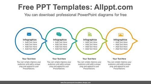 Circle connection flow PowerPoint Diagram Template-list image