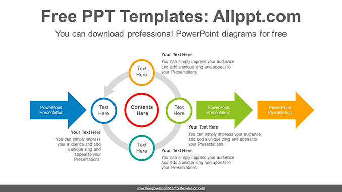 Circle cycle arrow PowerPoint Diagram Template-post image