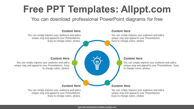 Circle radial dot PowerPoint Diagram Template-post image