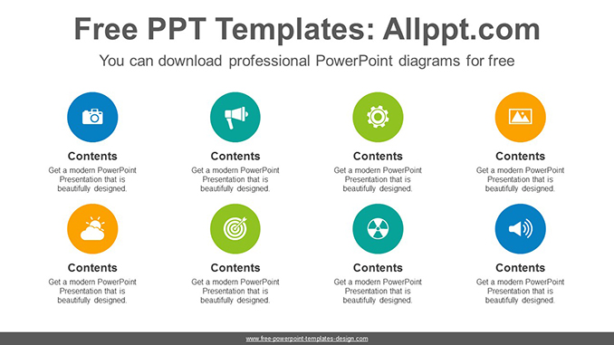 Circles list PowerPoint Diagram Template-post image