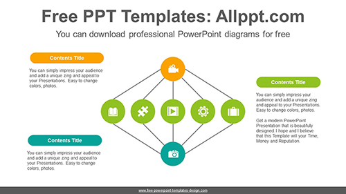 Colorful circular PowerPoint Diagram Template-list image