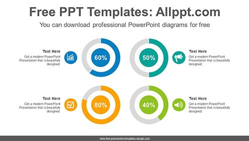 Colorful doughnut charts PowerPoint Diagram Template-list image