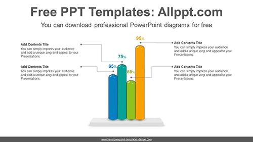 Cylinder bar chart PowerPoint Diagram Template-list image