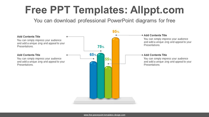 Cylinder Bar Chart Powerpoint Diagram Template