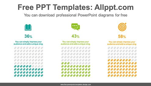 Equalizer puzzle charts PowerPoint Diagram Template-list image