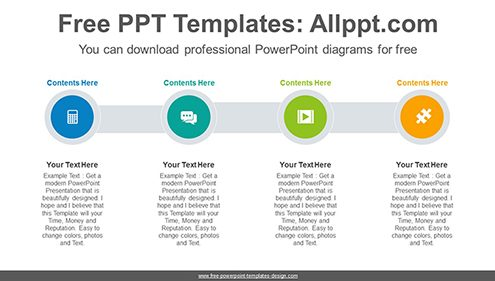 Four Circle list PowerPoint Diagram Template-list image