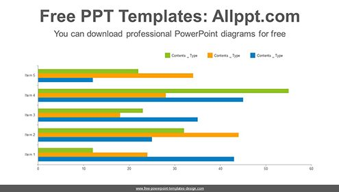 Full clustered bar chart PowerPoint Diagram Template-list image