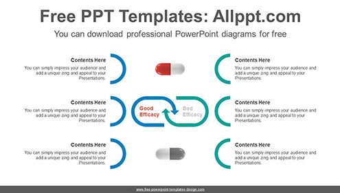 Good-bad compare PowerPoint Diagram Template-list image