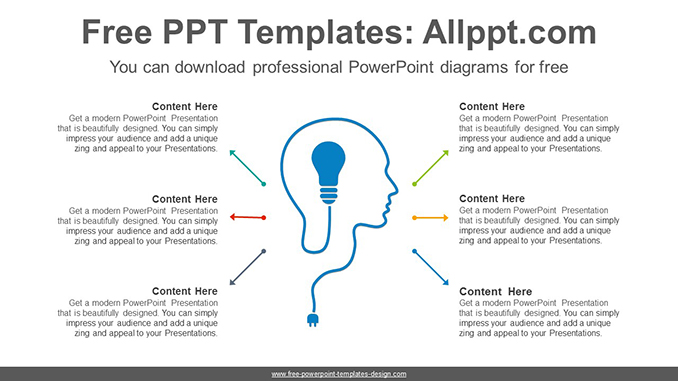 Head bulb PowerPoint Diagram Template-post image